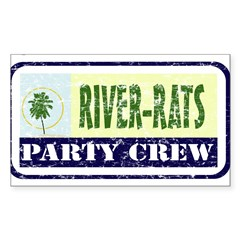 River Rat Rectangle Sticker (Rectangle 10 pk)