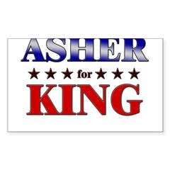 ASHER for king Rectangle Sticker (Rectangle 10 pk)