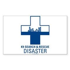 K9 Crosses - Disaster Search Rectangle Sticker (Rectangle 10 pk)