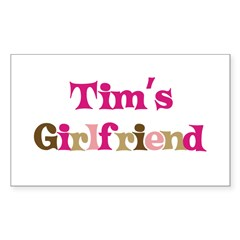 Tim's Girlfriend Rectangle Sticker (Rectangle 10 pk)