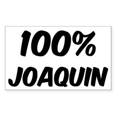 100 Percent Joaquin Sticker (Rectangle 10 pk)