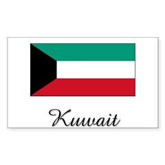 Kuwait Flag Rectangle Sticker (Rectangle 10 pk)