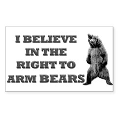 Right To Arm Bears Rectangle Sticker (Rectangle 10 pk)