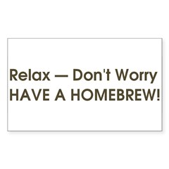 Relax... have a homebrew retro Sticker (Rectangle 10 pk)