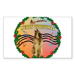 XmasMusic2/Tervuren Sticker (Rectangle 10 pk)