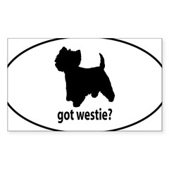 Got Westie? Oval Sticker (Rectangle 10 pk)