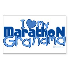 I Love My Marathon Grandma Rectangle Sticker (Rectangle 10 pk)