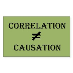 Correlation Causation Sticker (Rectangle 10 pk)