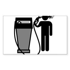 Gas Pump Suicide Rectangle Sticker (Rectangle 10 pk)