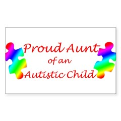 Autism Aunt Sticker (Rectangle 10 pk)