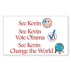 See Kevin Vote Obama Rectangle Sticker (Rectangle 10 pk)