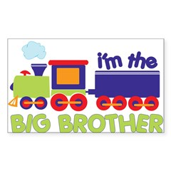 train big brother t-shirts Rectangle Sticker (Rectangle 10 pk)