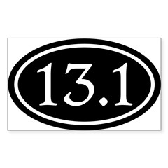 13.1 Half Marathon Oval Sticker (Rectangle 10 pk)