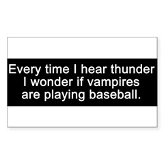 Baseball Vampires Sticker (Rectangle 10 pk)