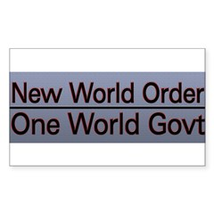 New World Order Truth Sticker (Rectangle 10 pk)