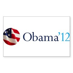 Obama '12 Sticker (Rectangle 10 pk)