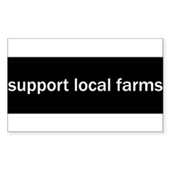 Support Local Farms Sticker (Rectangle 10 pk)
