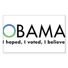 Obama, I believe Sticker (Rectangle 10 pk)