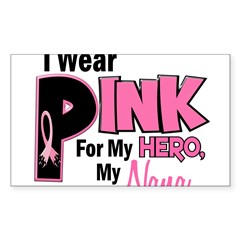 I Wear Pink For My Nana 19 Rectangle Sticker (Rectangle 10 pk)