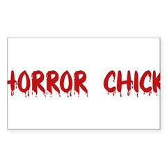 Horror Chick Rectangle Sticker (Rectangle 10 pk)