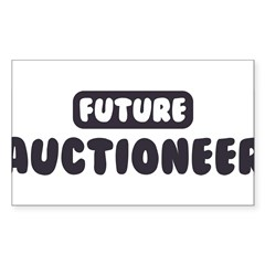 Future Auctioneer Sticker (Rectangle 10 pk)