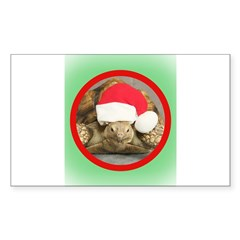 Tortoise, round image Sticker (Rectangle 10 pk)