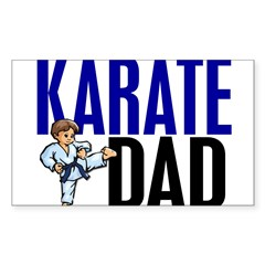 Karate Dad (OF BOY) 3 Rectangle Sticker (Rectangle 10 pk)