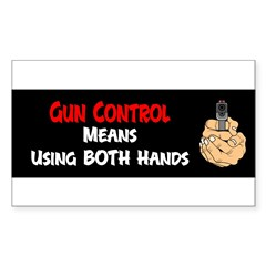 Anti Gun Control Sticker (Rectangle 10 pk)