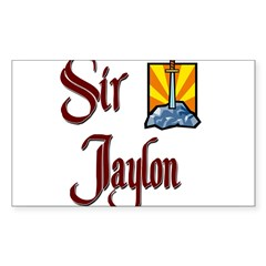 Sir Jaylon Rectangle Sticker (Rectangle 10 pk)