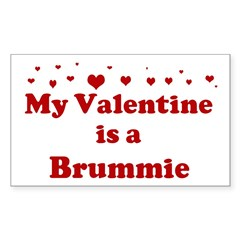 Brummie Valentine Sticker (Rectangle 10 pk)