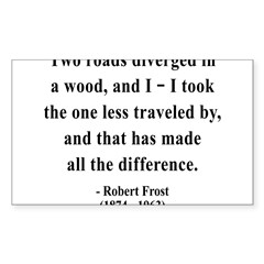 Robert Frost 1 Rectangle Sticker (Rectangle 10 pk)
