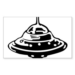 Flying Saucer Sticker (Rectangle 10 pk)