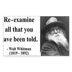 Walter Whitman 11 Rectangle Sticker (Rectangle 10 pk)
