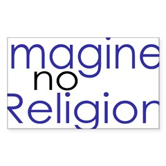 Imagine no Religion Rectangle Sticker (Rectangle 10 pk)