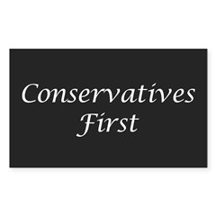 Conservatives First Oval Sticker (Rectangle 10 pk)
