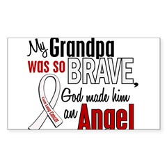 Angel 1 GRANDPA Lung Cancer Rectangle Sticker (Rectangle 10 pk)