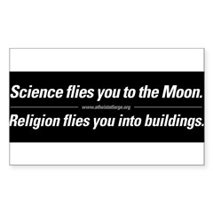 Science vs. Religion Sticker (Rectangle 10 pk)