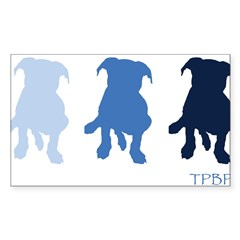 TPBP Blue Rectangle Sticker (Rectangle 10 pk)