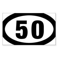 50 mile Ultrarunning Sticker (Rectangle 10 pk)