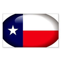 Texas Oval Sticker (Rectangle 10 pk)