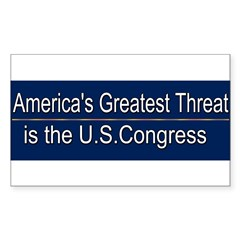 America's Greatest Threat Sticker (Rectangle 10 pk)