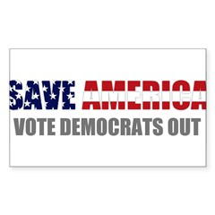 Save America Sticker (Rectangle 10 pk)