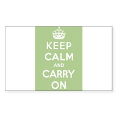 Sage Green Rectangle Sticker (Rectangle 10 pk)
