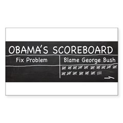 Obama Scoreboard Sticker (Rectangle 10 pk)