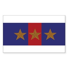 Marine Corps Recruiting 3 star (Bumper) Sticker (Rectangle 10 pk)
