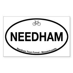 Needham Town Fore Sticker (Rectangle 10 pk)