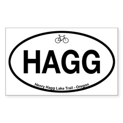 Henry Hagg Lake Trail Sticker (Rectangle 10 pk)