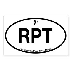 Resurrection Pass Trail Sticker (Rectangle 10 pk)