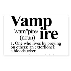 Definition of a Vampire Sticker (Rectangle 10 pk)