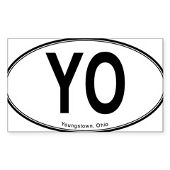 "Youngstown ""YO"" Sticker (Rectangle 10 pk)"